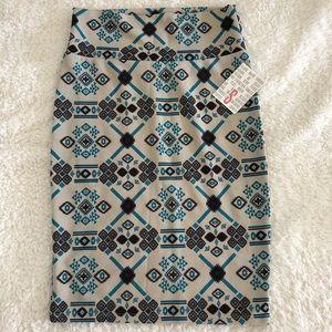 NWT - Lularoe Cassie (Pencil) Skirt (Aztec) (S)